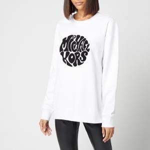MICHAEL Michael Kors Women's Unisex Mk 60s Sweatshirt - White