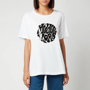 MICHAEL Michael Kors Women's Unisex Mk 60S Logo T-Shirt - White