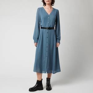 MICHAEL Michael Kors Women's Crinkle Dots Kate Dress - DK Chambray