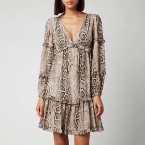 MICHAEL Michael Kors Women's Super Snake Mini Dress - Dune