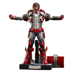 Hot Toys Iron Man 2 Movie Masterpiece Action Figure 1/6 Tony Stark (Mark V Suit Up Version) Deluxe 31 cm