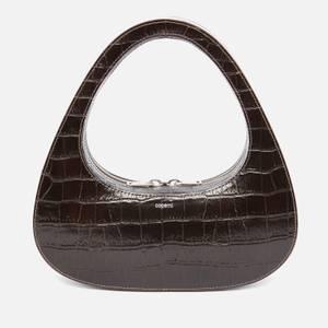 Coperni Women's Croc Baguette Swipe Bag - Dark Brown