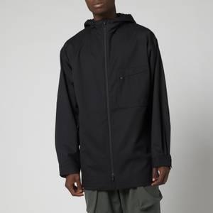Y-3 Men's Refined Wool Hooded Windbreaker - Black