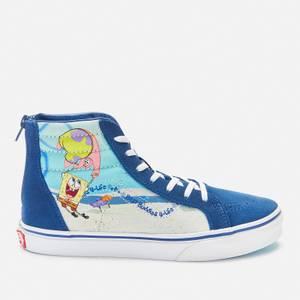 Vans X SpongeBob SquarePants Kids' Junior SK8 -Hi Zip Trainers - Multi
