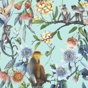 Organic Textures Lemur Turquoise Wallpaper