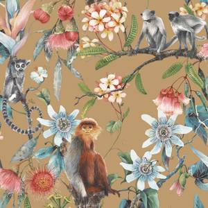 Organic Textures Lemur Gold Wallpaper