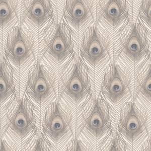 Organic Textures Peacock Beige Wallpaper