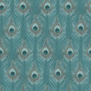 Organic Textures Peacock Turquoise Wallpaper