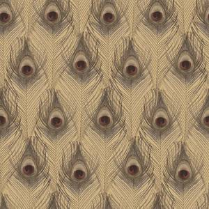 Organic Textures Peacock Brown Wallpaper