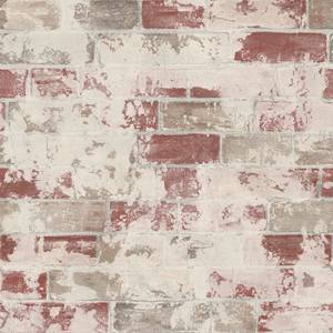Organic Textures Brick Red Wallpaper