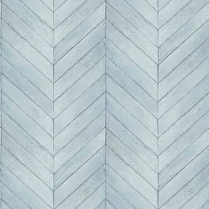 Organic Textures Chevron Wood Turquoise Wallpaper