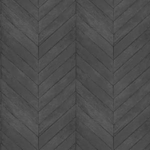 Organic Textures Chevron Wood Black Wallpaper