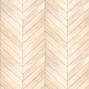 Organic Textures Chevron Wood Beige Wallpaper