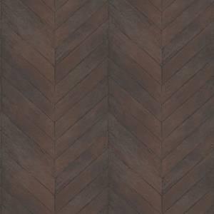 Organic Textures Chevron Wood Dark Brown Wallpaper