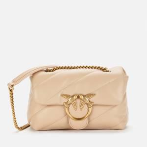 Pinko Women's Love Mini Puff Maxi Quilt Bag - Beige
