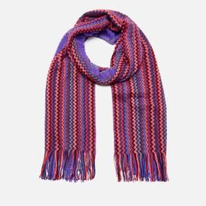 Missoni Women's Wool Mix Scarf - Purple
