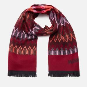 Missoni Women's Woolen Patterned Scarf - Red