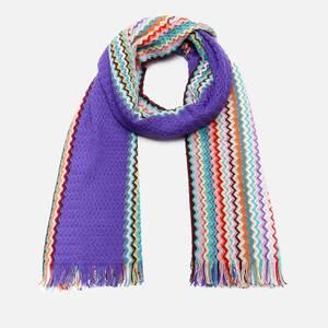 Missoni Women's Wool Patterned Scarf - Blue