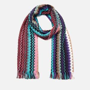 Missoni Women's Wool Mix Patterned Scarf - Blue