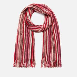 Missoni Women's Wool Mix Patterned Scarf - Red