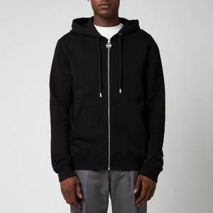 Lanvin Men's Paris Embroidered Zipped Hoodie - Black