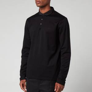Lanvin Men's Classic Long Sleeve Polo Shirt - Black