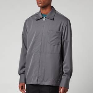 Lanvin Men's Zipped Shirt - Elephant Grey