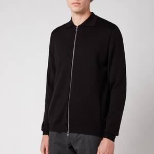 John Smedley Men's Rutherford Zip-Through Jacket - Black