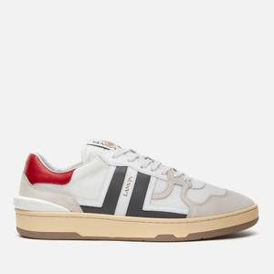 Lanvin Men's Clay Low Trainers - White/Grey