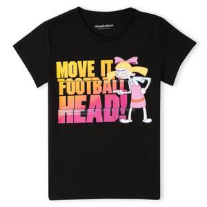 Nickelodeon Hey Arnold Move It Football Head Women's T-Shirt - Black
