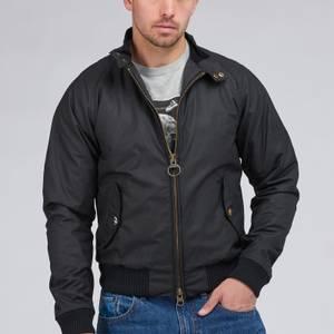 Barbour X Steve McQueen Men's Merchant Wax Jacket - Black