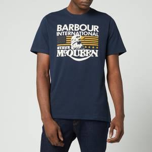 Barbour X Steve McQueen Men's Eagle T-Shirt - Navy