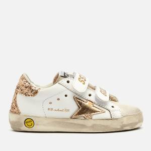 Golden Goose Deluxe Brand Toddlers' Suede Toe and Leather Old School Trainers - White/Ice/Gold