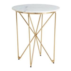 White Marble Table with Gold Legs