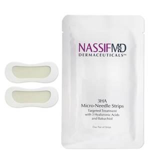 NassifMD Dermaceuticals 3HA Micro-Needle Strips Targeted Wrinkle Strips (6 Pack)