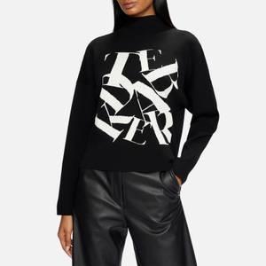 Ted Baker Women's Izbelle Funnel Neck Branded Sweater - Black
