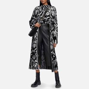 Ted Baker Women's Ttarra Longline Jacquard Knit Cardigan - Black