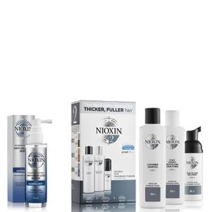 NIOXIN 3-Part System 2 Trial Kit for Natural Hair with Progressed Thinning Kit