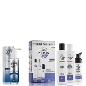 NIOXIN 3-Part System 6 Trial Kit for Chemically Treated Hair with Progressed Thinning Kit