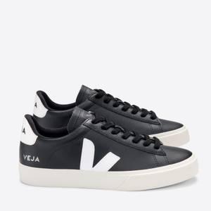 Veja Men's Campo Chrome Free Leather Trainers - Black/White