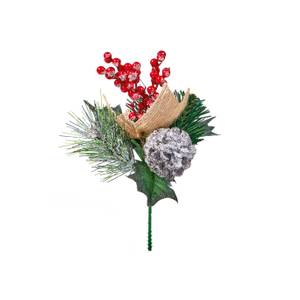 Decorative Berry and Pinecone Christmas Pick