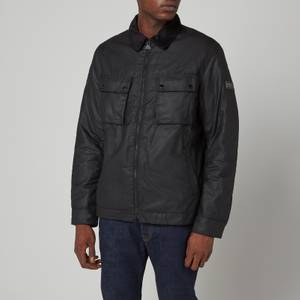 Barbour International Men's Accelerator Baffins Wax Jacket - Black