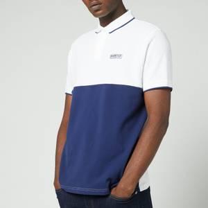 Barbour International Men's Accelerator Block Polo Shirt - White