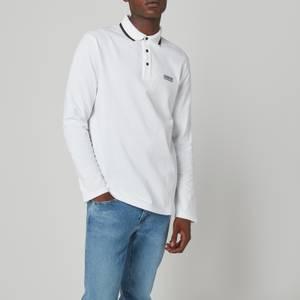 Barbour International Men's Axle Long Sleeve Polo Shirt - White