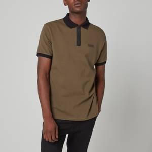 Barbour International Men's Transmission Zip Polo Shirt - Khaki