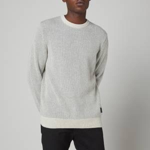 Barbour Men's Duffle Knitted Crewneck Sweatshirt - Ecru