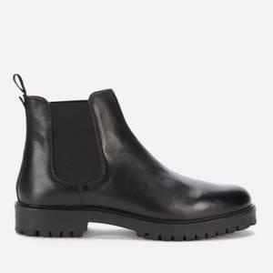 Walk London Men's Sean Leather Chelsea Boots - Black