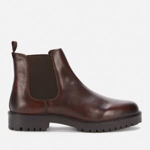 Walk London Men's Sean Leather Chelsea Boots - Brown