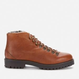 Walk London Men's Sean Leather Hiking Style Boots - Thunder Tan