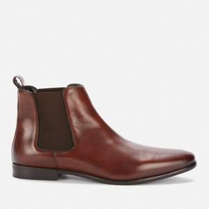 Walk London Men's Alfie Leather Chelsea Boots - Brown